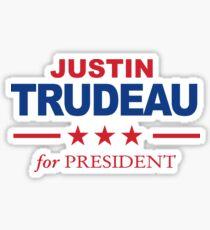 Justin Trudeau for President Sticker