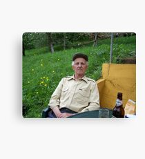 Bosnian Grandfather Canvas Print