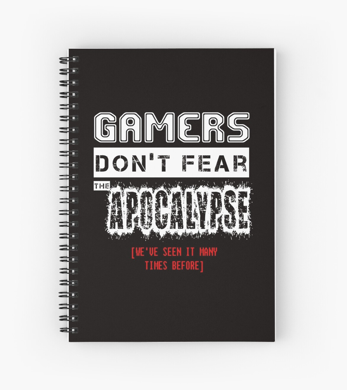 cuaderno de espiral gamer quotes de geekmachine redbubble
