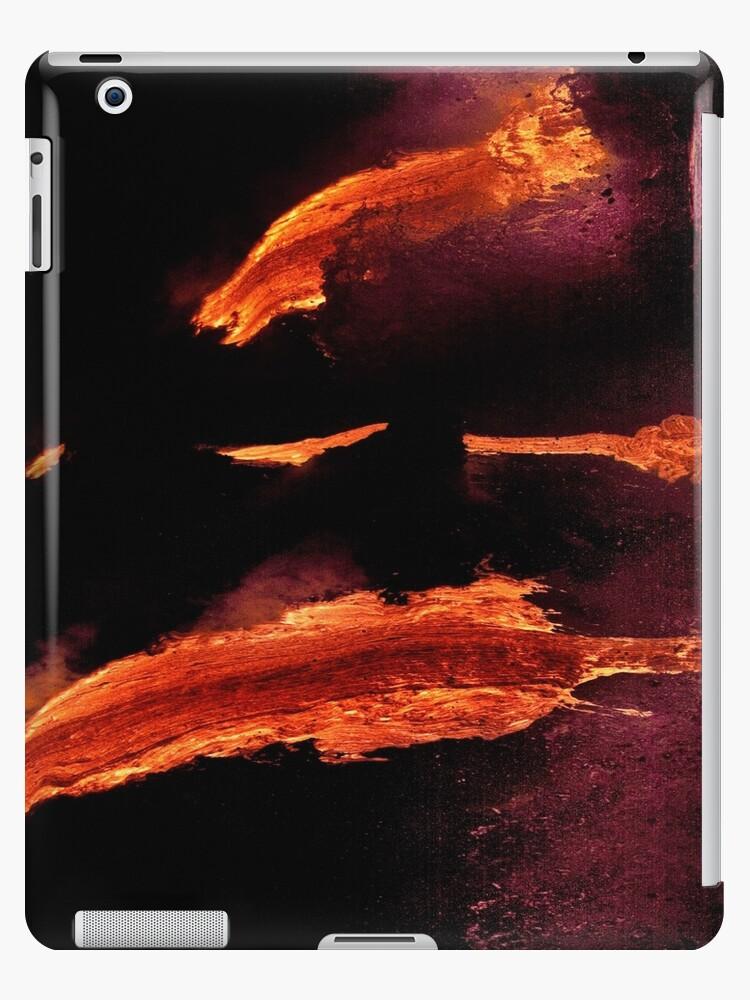 iPad Case.  Lava Flow at Kalapana 14. by Alex Preiss