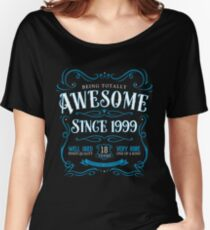 18th Birthday Gift Awesome Since 1999 Blue Women's Relaxed Fit T-Shirt