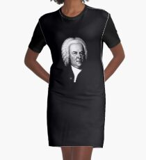 Johann Sebastian Bach, Perhaps the Greatest Composer Ever Graphic T-Shirt Dress
