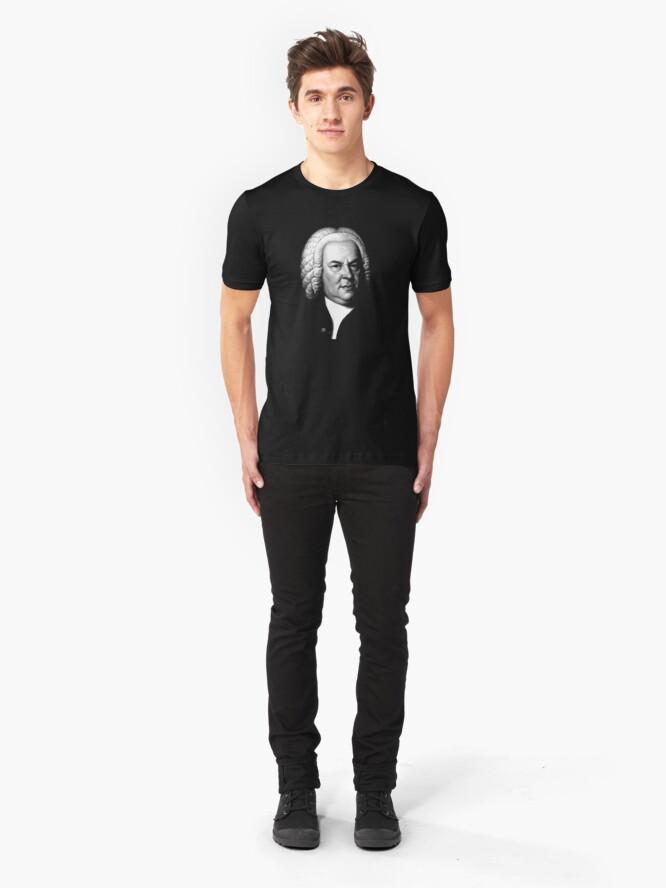 Alternate view of Johann Sebastian Bach, Perhaps the Greatest Composer Ever Slim Fit T-Shirt