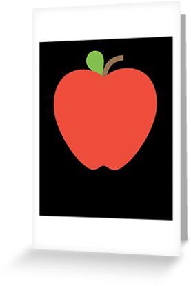 Emoji red apple fruit greeting cards by roarr redbubble emoji red apple fruit m4hsunfo