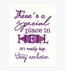 A Special Place in Hell Art Print