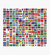 Flaggen der Welt Fotodruck