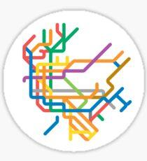 Mini Metros - New York, United States Sticker