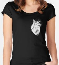 Set Your Heart Free White Women's Fitted Scoop T-Shirt