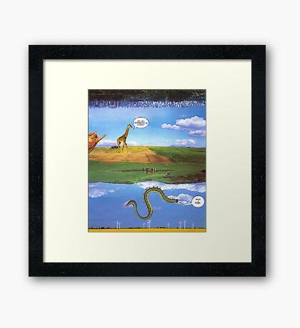 M Blackwell - Layerland 1: What a Dork Framed Print