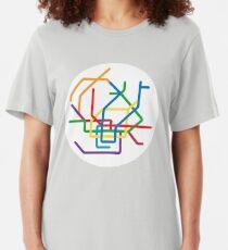 Mini Metros - Hamburg, Germany Slim Fit T-Shirt