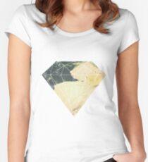Fractal diamond Women's Fitted Scoop T-Shirt