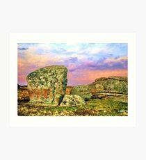 Dusk at the 'Rocks' Art Print