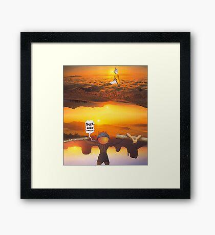 M Blackwell - Layerland 2: Saluting Four Sunrises Framed Print