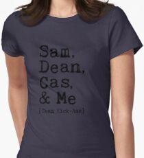 Sam, Dean, Cas & Me - Team Kick-Ass Womens Fitted T-Shirt