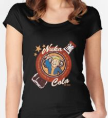 Fallout nuka cola logo featuring Vaultboy Women's Fitted Scoop T-Shirt