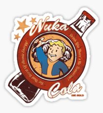Fallout nuka cola logo featuring Vaultboy Sticker