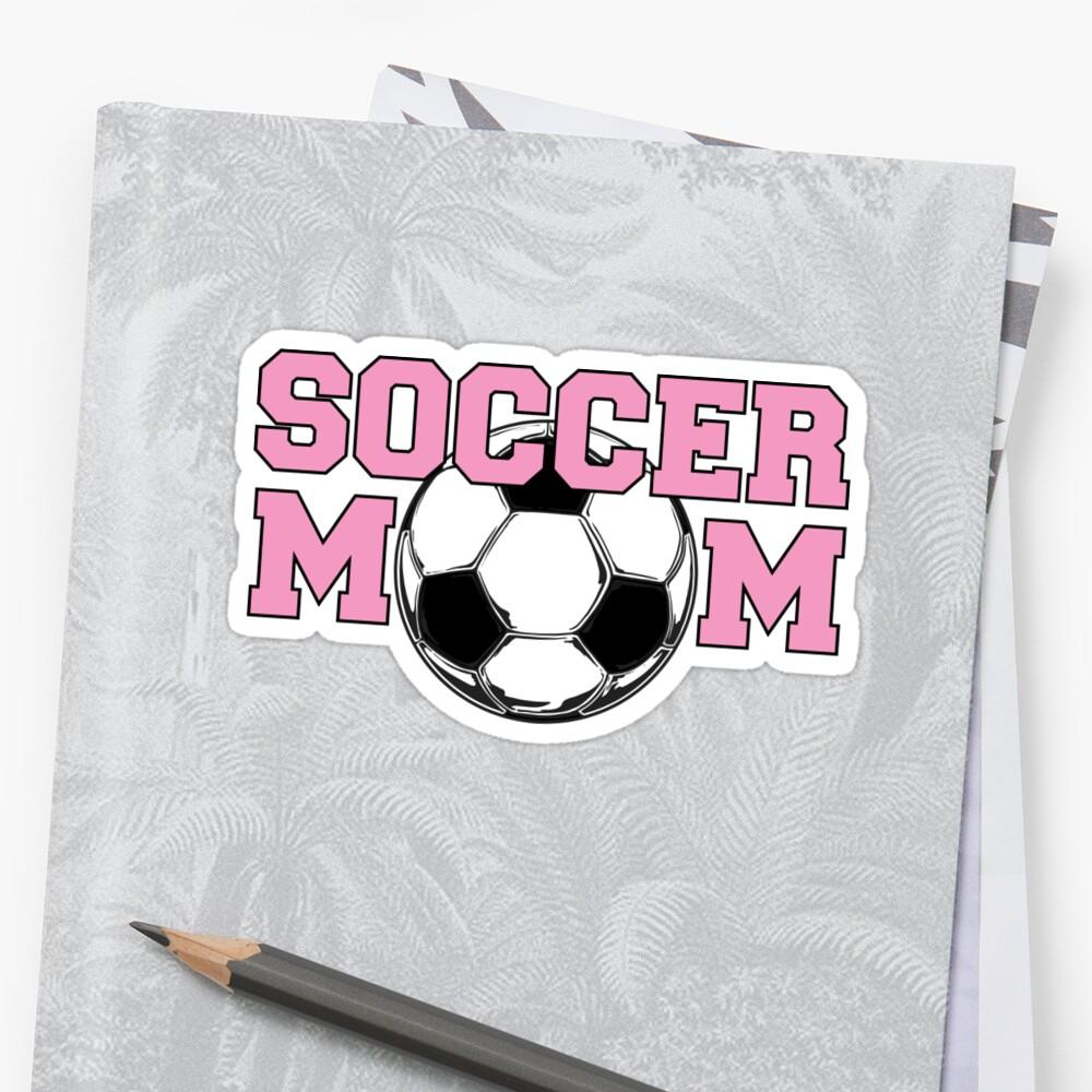Soccer Mom Pink Sticker Front