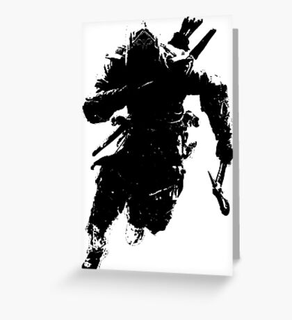 Weathered Connor Assassin's Creed Greeting Card