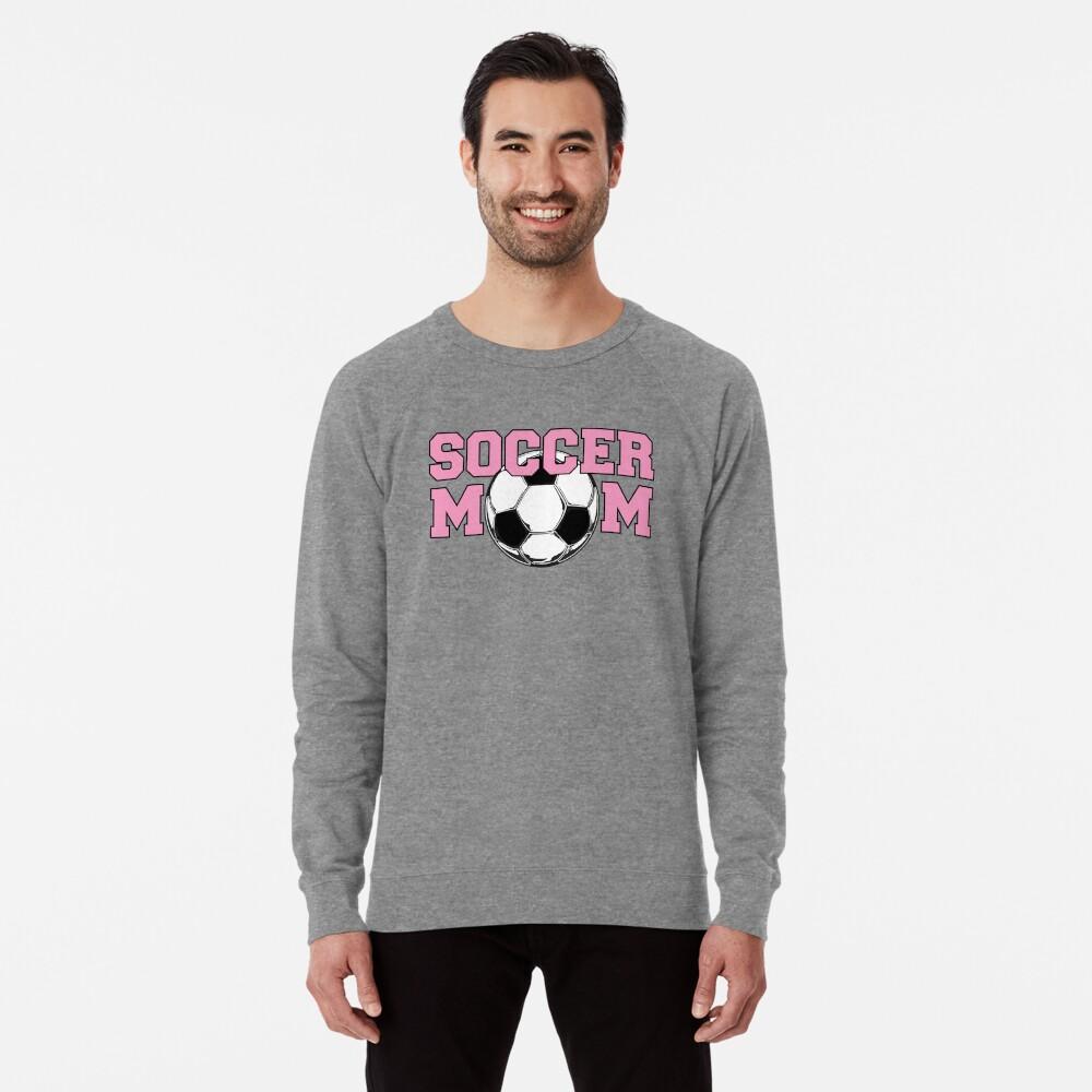 Soccer Mom Pink Lightweight Sweatshirt Front