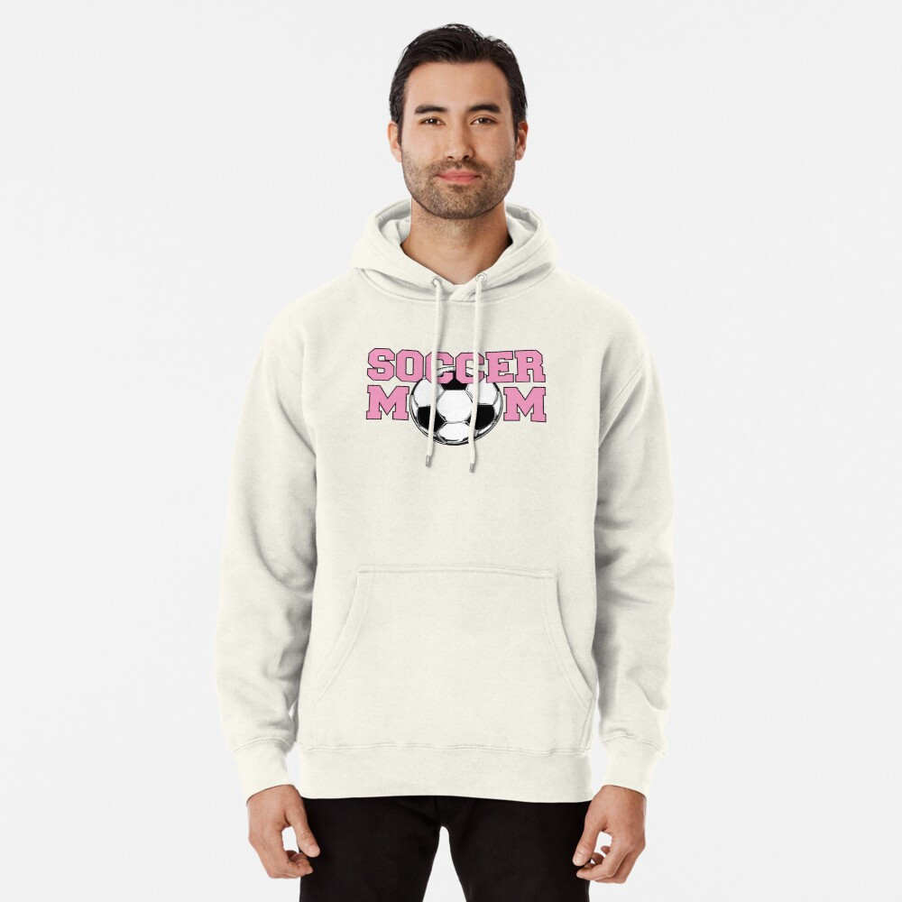 Soccer Mom Pink Pullover Hoodie Front