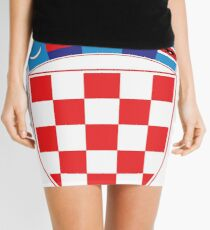 Croatia Deluxe Football Jersey Design Mini Skirt
