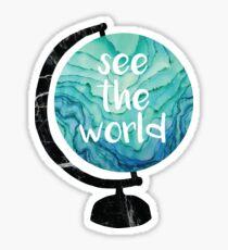see the world globe Sticker