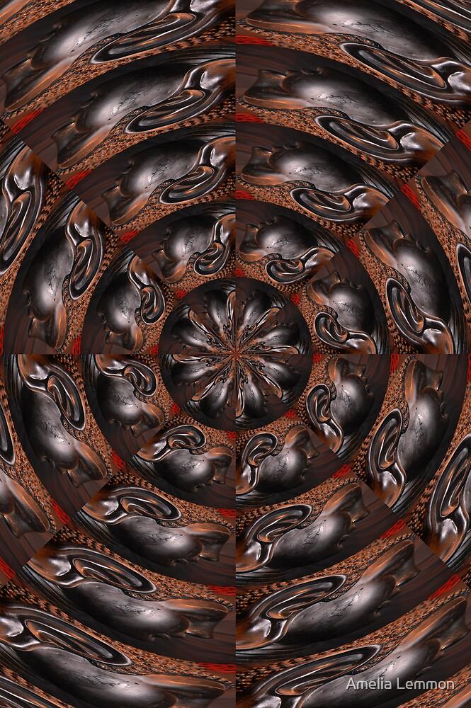 swirling buddah by Amelia Lemmon