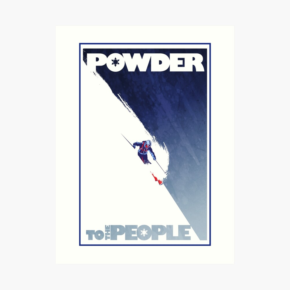 Powder to the People Art Print