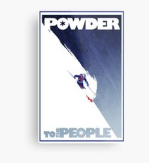 Powder to the People Metal Print
