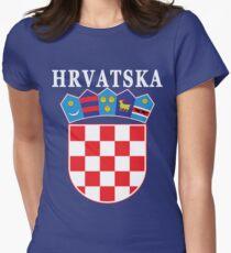 Croatia Hrvatska Deluxe National Jersey Women's Fitted T-Shirt
