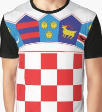 Croatia Hrvatska Deluxe National Jersey Graphic T-Shirt