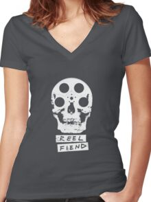 Reel Fiend Women's Fitted V-Neck T-Shirt