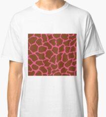 Dark Pink Giraffe in Pattern  Classic T-Shirt