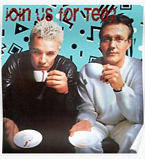 Giles and Spike Tea Party Poster