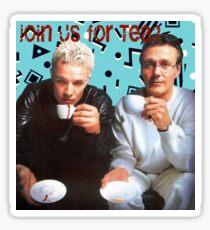 Giles and Spike Tea Party Sticker