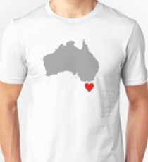 I Love Tasmania Map T-Shirt