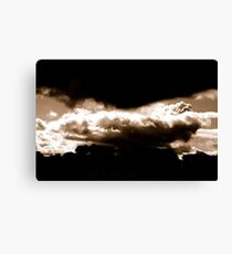 WEATHER WARNING... Canvas Print