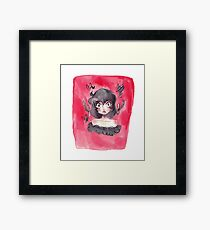 Lady Wearing Black Framed Print