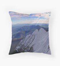 Moonlight Ridge Panorama, Mount Buller Throw Pillow