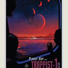 TRAPPIST-1 NASA Space Travel Poster by whitneykayc