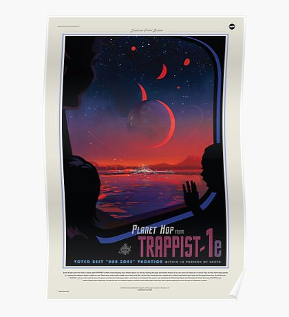 TRAPPIST-1 NASA Space Travel Poster Poster