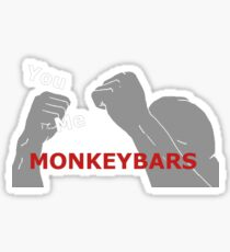 funny fight meet me behind the monkey bars Sticker