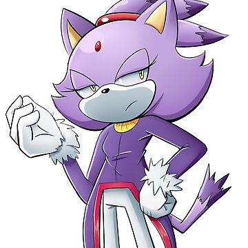 purple kitty by katzesart