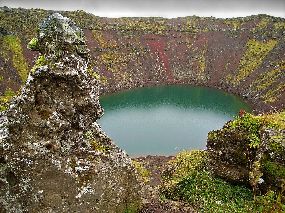Kerið Crater Lake, Iceland by Craig Mitchell