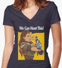 We Can Hunt This Women's Fitted V-Neck T-Shirt