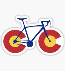 Colorado Flag Bicycle Sticker