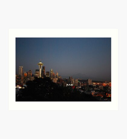 Seattle at Night Art Print