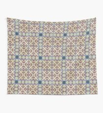 Fleur de lis and flower tiles Wall Tapestry