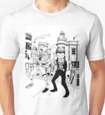 Tekkonkinkreet - Cat and rat and dog and city T-Shirt
