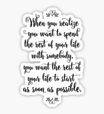 When Harry Met Sally - The Rest of Your Life Sticker